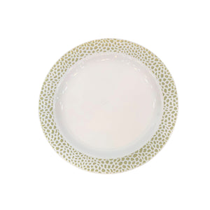 "Lillian Pebbled Gold 7.5"" Plate"