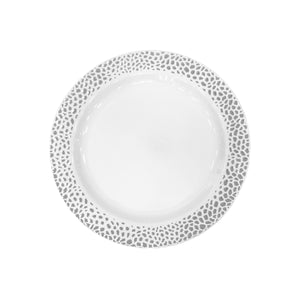 "Lillian Pebbled Silver 7.5"" Plate"