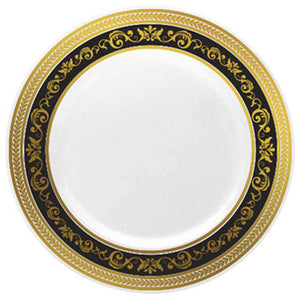 "Royale Black/Gold 10.25"" Plate"