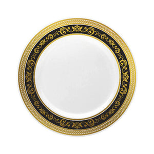 "Royale Black/Gold 7.25"" Plate"