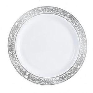 "Royalty White / Silver 7.5"" Plate"