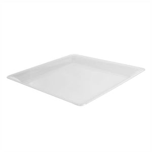 "16"" x 16"" Clear Square Serving Tray"