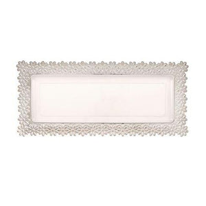 2 pieces Flower Tray - Clear/Silver Small
