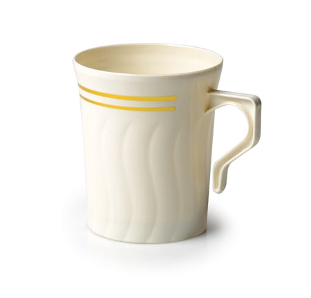 Silver Splendor Bone / Gold 8 oz Mug