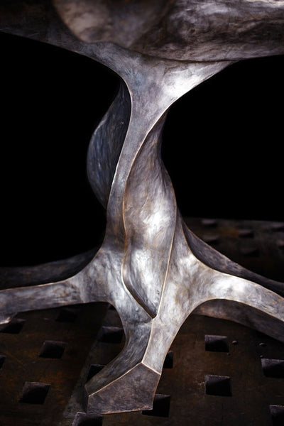TWISTED TREE BRONZE BOOKMATCHED SLAB TABLE