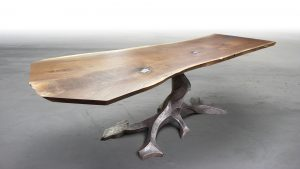TWISTED TREE BRONZE SLAB TABLE