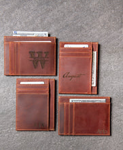 Slim Leather Wallet Personalized With ID Window The Ocala by Left Coast Original