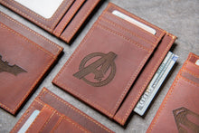 Hero Slim Leather Wallet Personalized With ID Window The Ocala by Left Coast Original