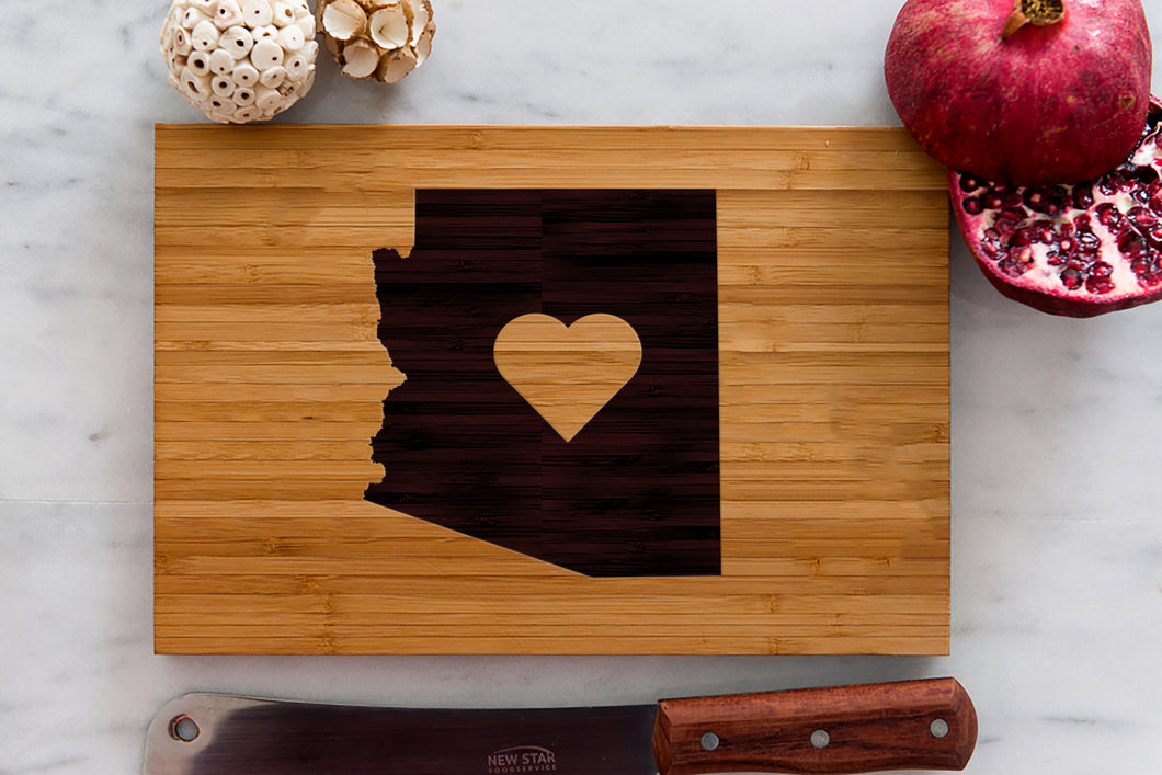 Arizona State Engraved Cutting Board, Personalized