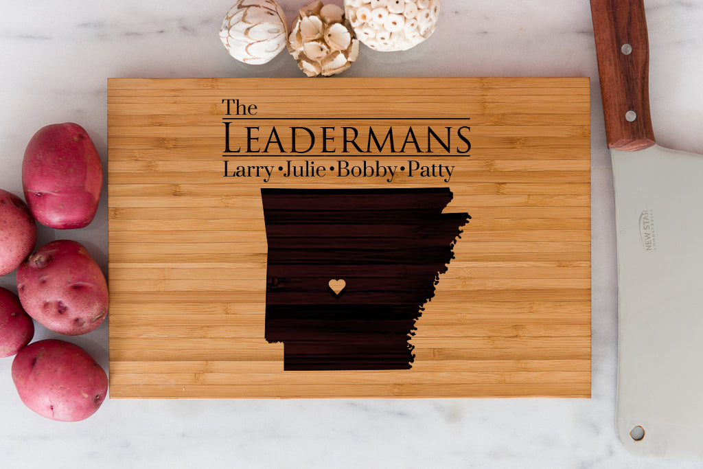 Arkansas State Engraved Cutting Board, Personalized