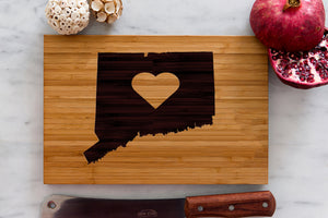 Connecticut State Engraved Cutting Board, Personalized