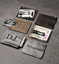MultiTool Card with Distressed Leather Sleeve