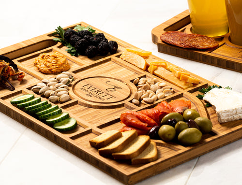 Personalized Charcuterie Planks and Flights - 4 Styles and Gift Sets Available