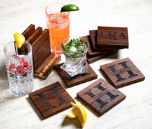 Personalized Name or Quote Coasters with Optional Coaster Holder by Left Coast Original