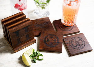 Hero Inspired Coasters with Optional Coaster Holder by Left Coast Original