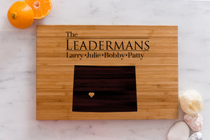 Colorado State Engraved Cutting Board, Personalized