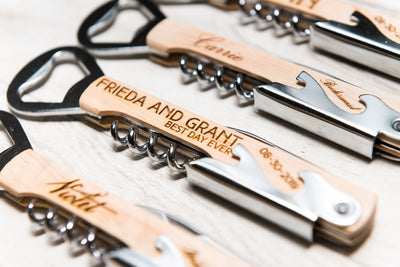 Engraved Corkscrew Wine Beer Bottle Opener Bridesmaid Gift