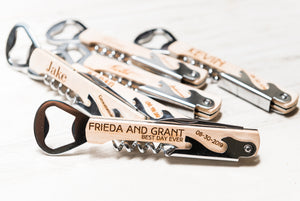 Personalized Corkscrew Wine Beer Bottle Opener Groosman Gift