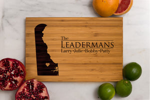 Delaware State Engraved Cutting Board, Personalized
