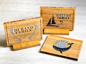 Personalized Family Name Signs by Left Coast Original