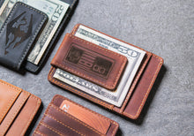 Gamer Inspired Personalized Leather Magnetic Money Clip