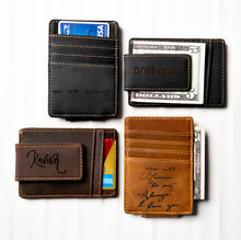 The Handwriting Leather Money Magnetic Clip