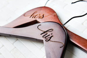 Personalized Wedding Day Dress Hangers (Quantity Discount)