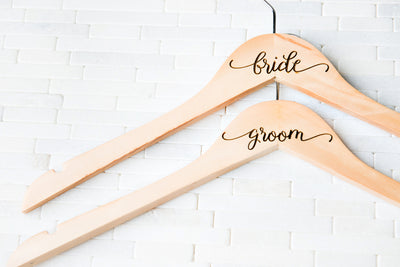 Bridesmaid and Groomsman Dress and Tux Hangers (Quantity Discount)