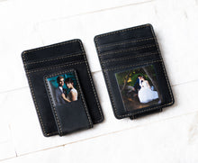 Two Inked Photo Leather Magnetic Money Clips in Bad Buy Black