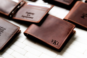 The Key Largo Personalized Leather Wallet