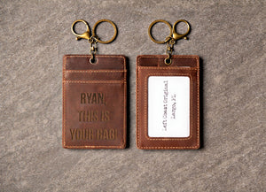 Personalized Distressed Leather Luggage Tag