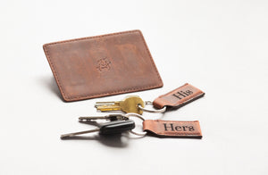 Personalized Wall Mounted Magnetic Leather Keychain - The Key West by Left Coast Original