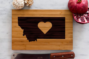 Montana State Engraved Cutting Board, Personalized