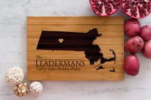 Massachusetts State Engraved Cutting Board, Personalized