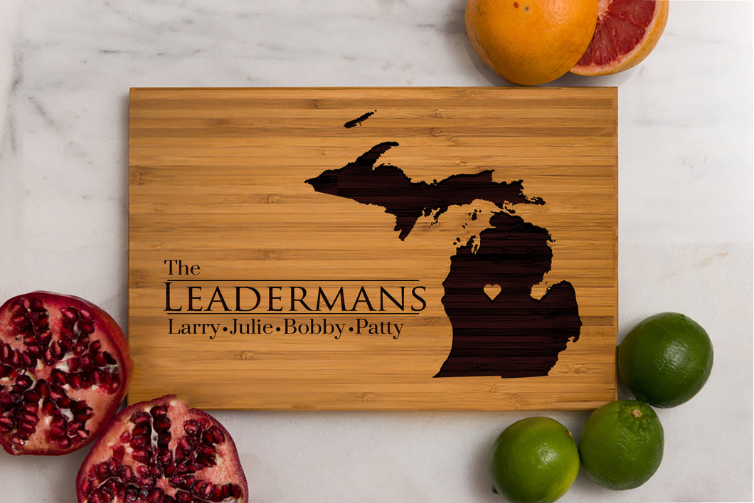 Michigan State Engraved Cutting Board, Personalized