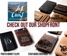 Inked Photo Leather Magnetic Money Clip