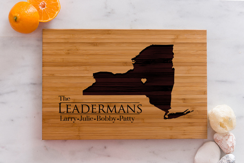 New York State Engraved Cutting Board, Personalized