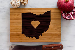 Ohio State Engraved Cutting Board, Personalized