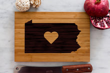 Pennsylvania State Engraved Cutting Board, Personalized
