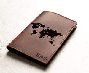 Personalized Leather Passport Cover Holder