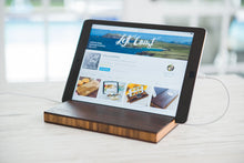 apple ipad android tablet stand charging dock desk nightstand gift mom dad engraved personalized