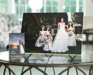 Birchwood Photo Pallet | Wall Hanging and also Includes Multi-function Stand | With Optional Lettering Overlay