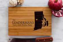 Rhode Island State Engraved Cutting Board, Personalized