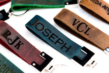 The San Blas Personalized Leather Keychain
