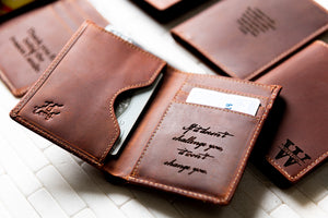 The Sarasota Personalized Leather Slim Bifold Wallet