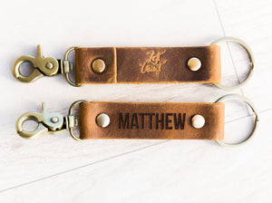 The St Augustine Personalized Leather Keychain