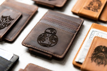 Star Wars Inspired Leather Magnetic Money Clip with BB-8 engraving