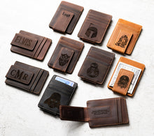 Star Wars Inspired Leather Magnetic Money Clips with engraved characters