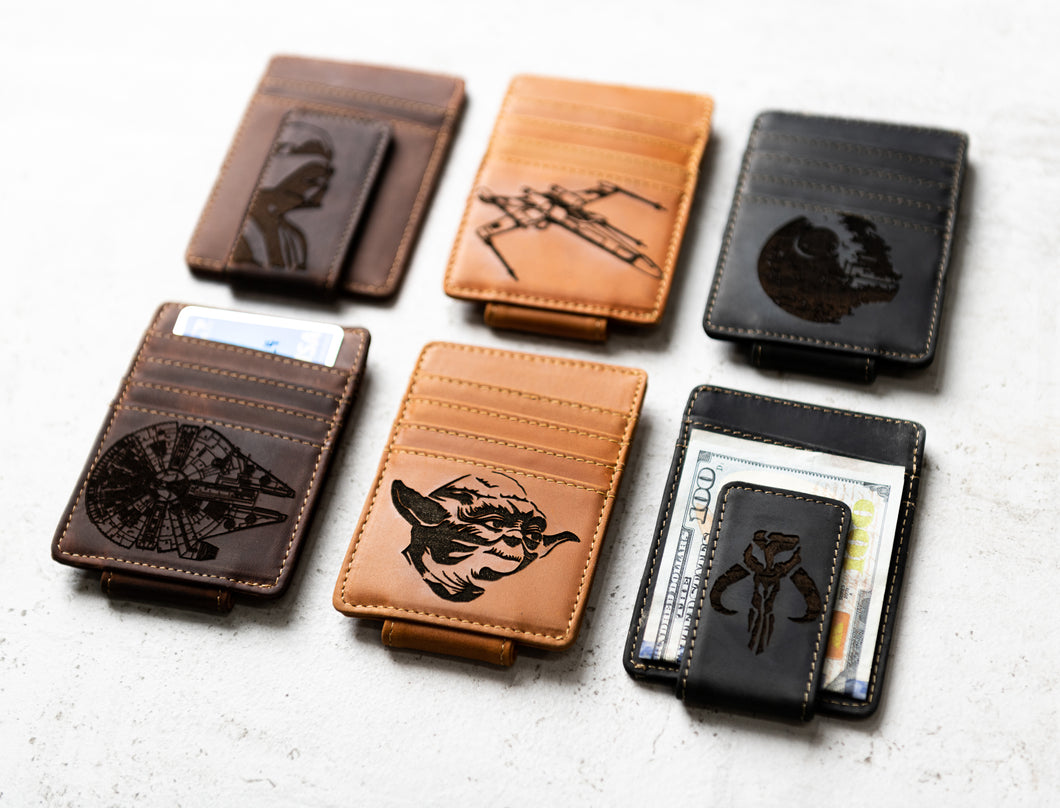 Star Wars Inspired Money Clips with character engravings