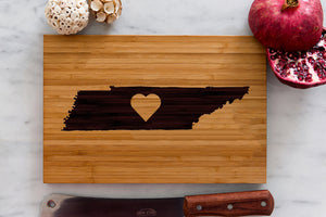 Tennessee State Engraved Cutting Board, Personalized